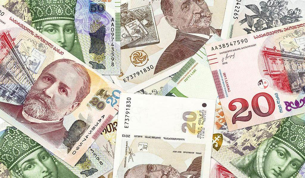сколько лари 1000 рублей