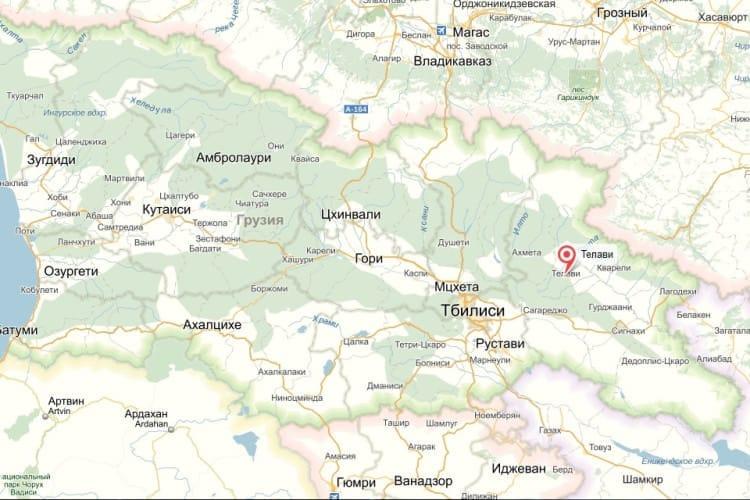 Телави - красивый город Грузии вблизи Алазанской долины