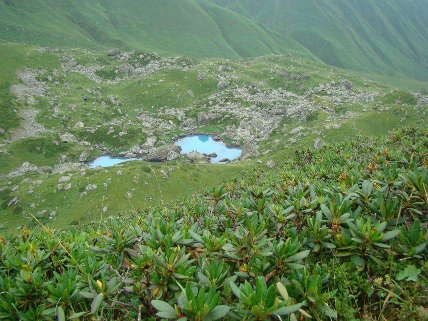 """Абуделаури - """"цветные"""" озёра Кавказских гор"""