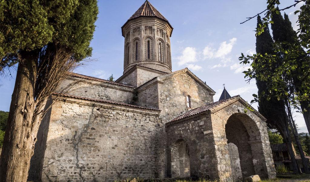 Старинный православный монастырь Икалто вблизи города Телави