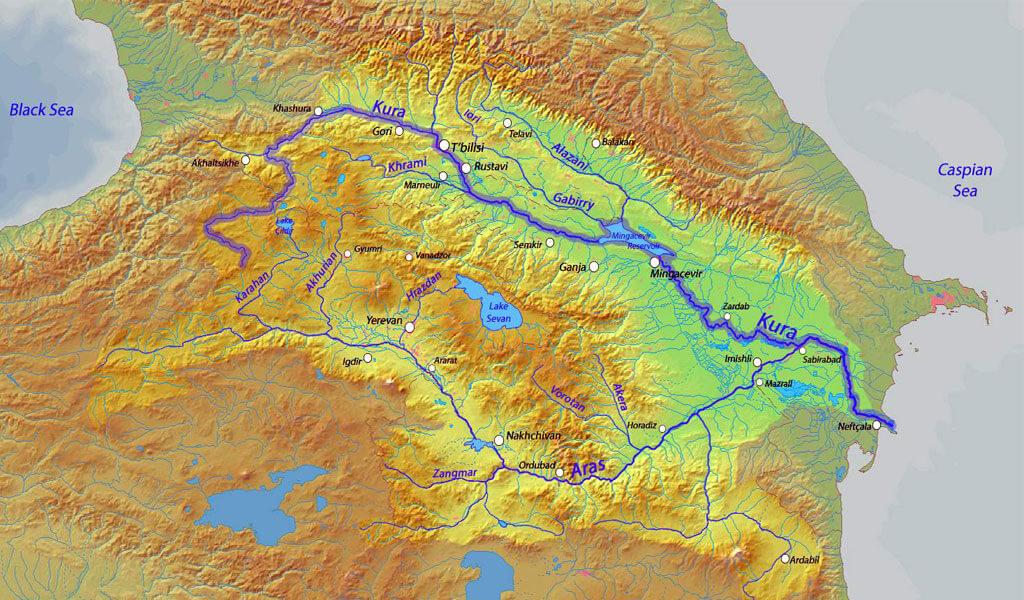 Кура (Мтквари)- главная река Закавказья