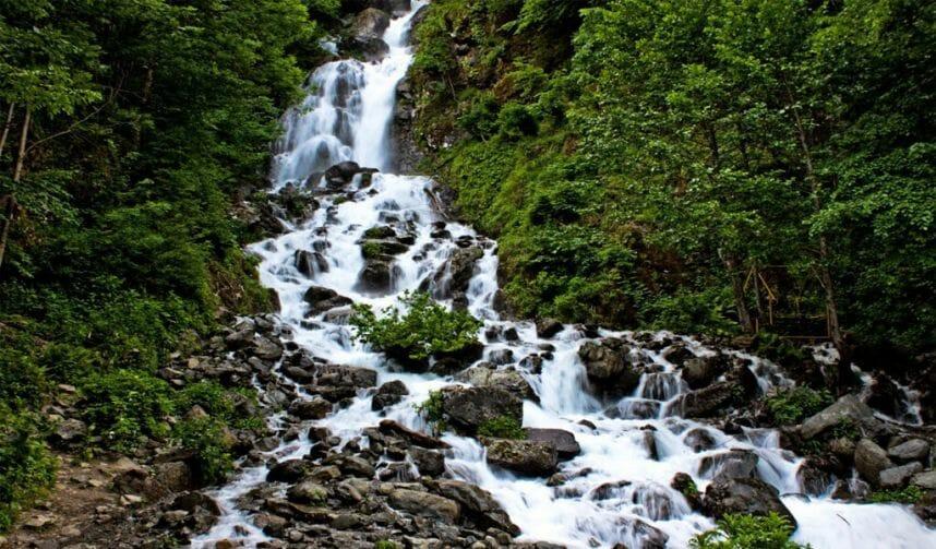 Молочный водопад Абхазия
